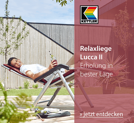 Kettler Relaxliege Lucca II - Erholung in bester Lage - jetzt entdecken!