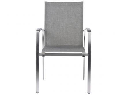 Vorschau: STERN Stapelsessel Mika Edelstahl Textilenbezug Leinen grau