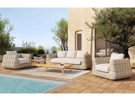 Vorschau: Tierra Outdoor Teakholz Lounge Tisch Wakkanda 150x80cm