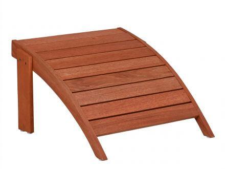 Vorschau: Lünse Holz Adirondack Chair Gartensessel mit Fußhocker