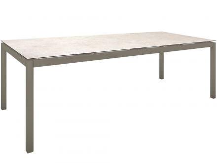 Stern Gartentisch 250x100cm Aluminium taupe/Silverstar 2.0 Travertin