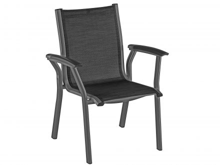 Kettler Avalon Dining-Chair anthrazit-graphit