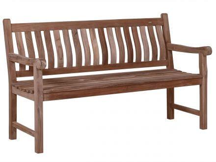 Lünse Teakholz Bank Sterling 150cm 3-Sitzer