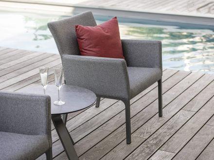 Vorschau: Stern Artus Lounge-Sessel Alu Outdoorstoff kristall anthrazit