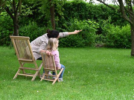 Vorschau: Lünse Kinder Gartenstuhl Teak Modena