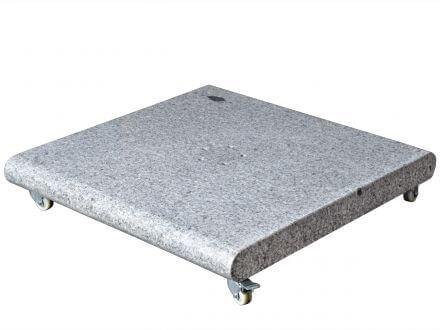 Glatz Granitsockel mit Rollen 120kg 5-Loch-Aufnahme