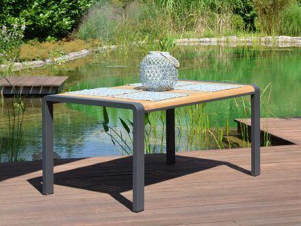Vorschau: Alu Teakholz Gartentisch Saphir Ambientebild