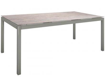 Vorschau: Stern Gartentisch 200x100cm Aluminium graphit/Silverstar 2.0 Sand