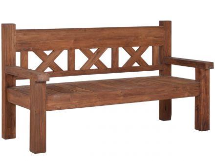 Lünse Antik Teakholz Gartenbank Gigant 180cm 4-Sitzer