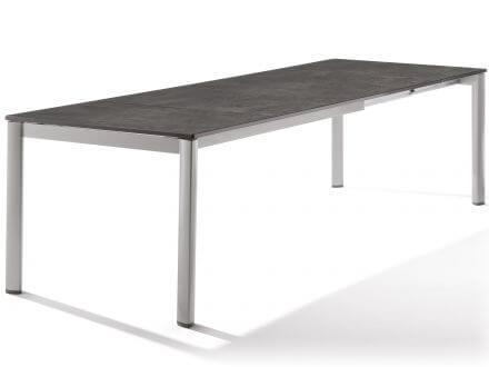 Sieger Ausziehtisch 165/225/285x95cm graphit/Beton dunkel