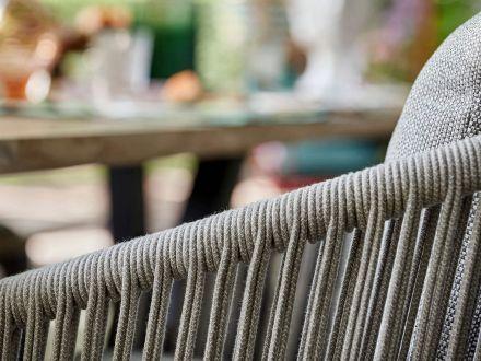 Vorschau: Suns Avero Dining Chair Alu matt royal grey Rope Carbon grey