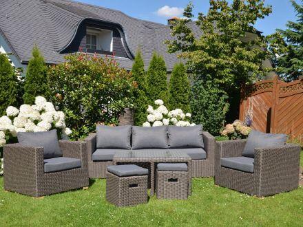 Vorschau: Outdoor Lounge Gartenmöbel Set Meridien