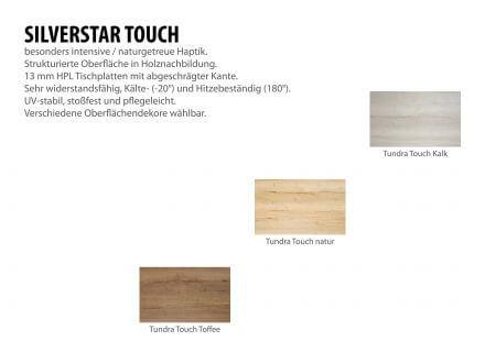 Vorschau: Gartentisch 250x100cm Aluminium taupe Silverstar 2.0