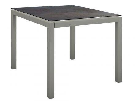 Stern Gartentisch 80x80cm Aluminium graphit/Silverstar 2.0 Nitro