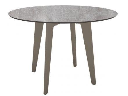 STERN Gartentisch Ø110cm HPL Aluminium taupe