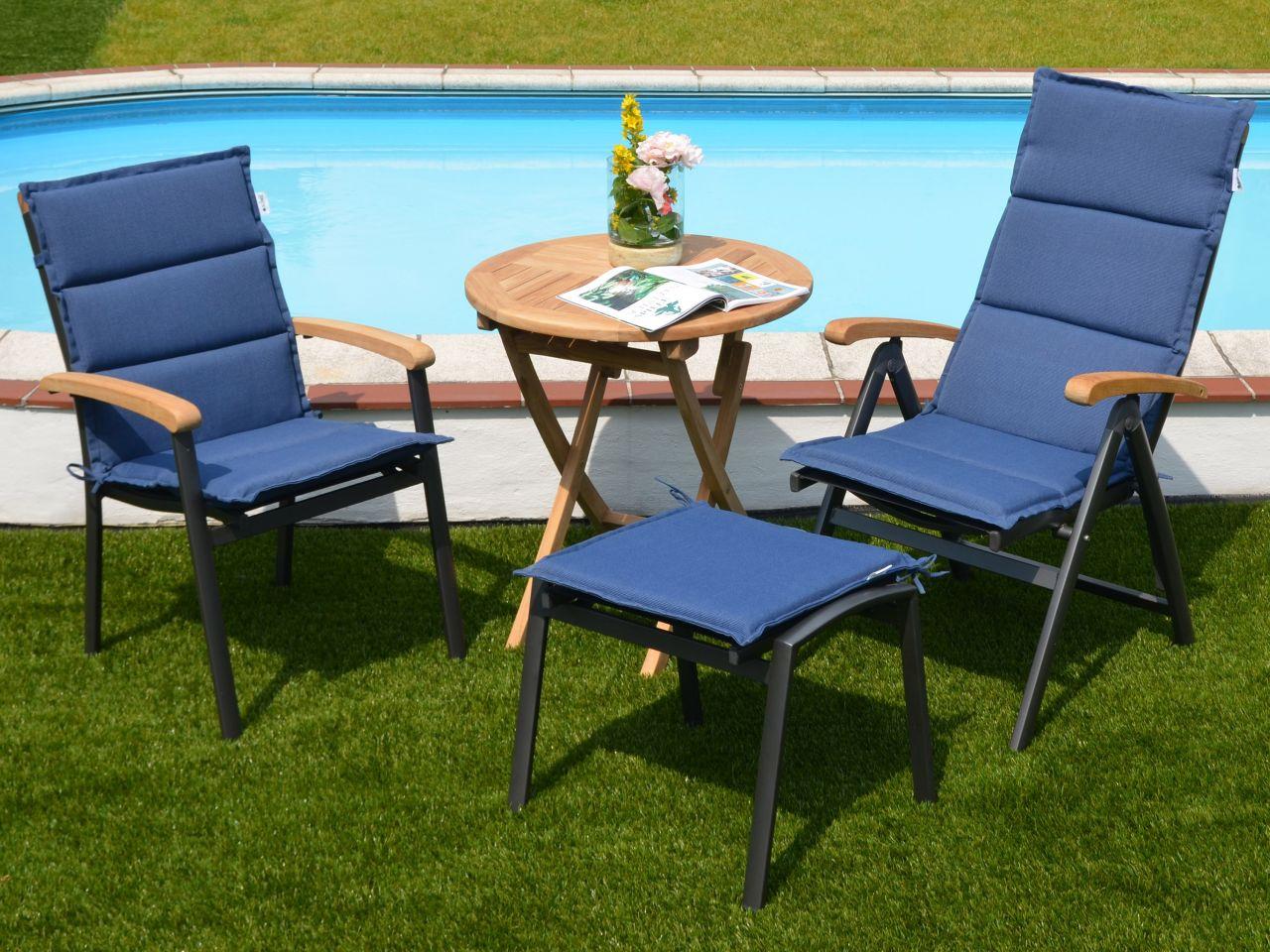 Auflagen Malibu für Gartenmöbel mit Outdoorgewebe-Bespannung