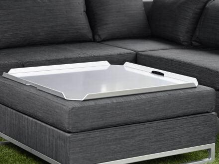 Vorschau: Lünse Aluminium Tablett Legian silber 80x80cm