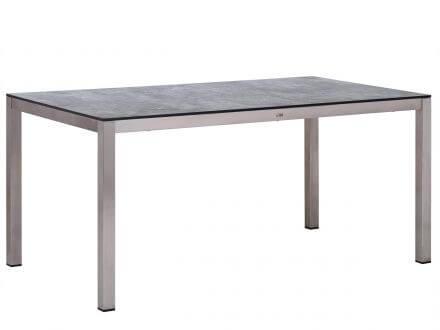 Lünse Gartentisch Livigno 160x90cm Edelstahl HPL Grigio