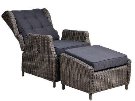 Vorschau: Salerno Lounge Sessel & Hocker freigestellt
