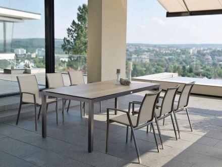 Vorschau: Beispiel Sitzgruppe mit Stern Tisch Silverstar