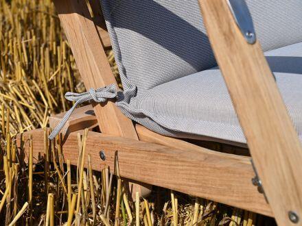Vorschau: Lünse Auflage für Deckchair Malibu jute