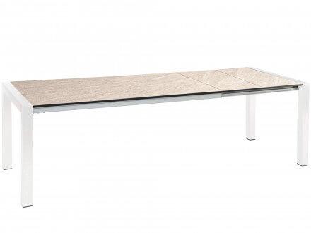 STERN Doppel-Ausziehtisch Standard Alu weiß 174-254x90cm