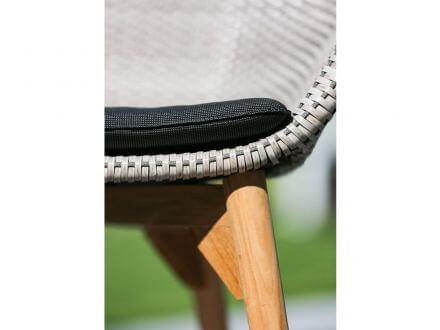 Vorschau: Niehoff Teak Geflecht Rope Schalenstuhl NICA beige|grau