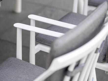 Vorschau: Stern Vanda Sessel weiß mit Auflage seidengrau