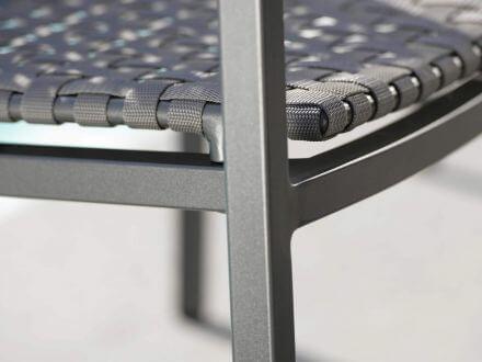 Vorschau: Stern Lucy Lounge-Sessel anthrazit Gurtbespannung platin