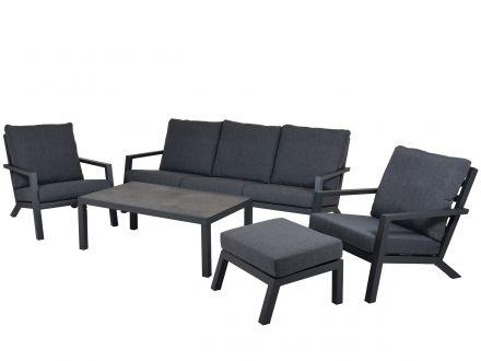 Vorschau: Aluminium Lounge Set Barbados 5-teilig