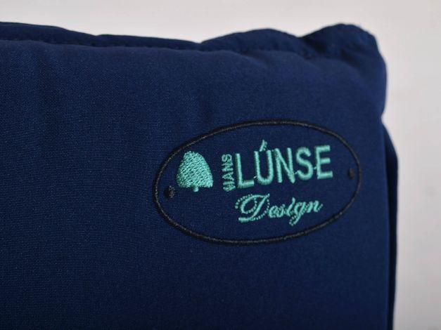 Vorschau: Gartenstuhlkissen mit traditionellem Lünse-Logo