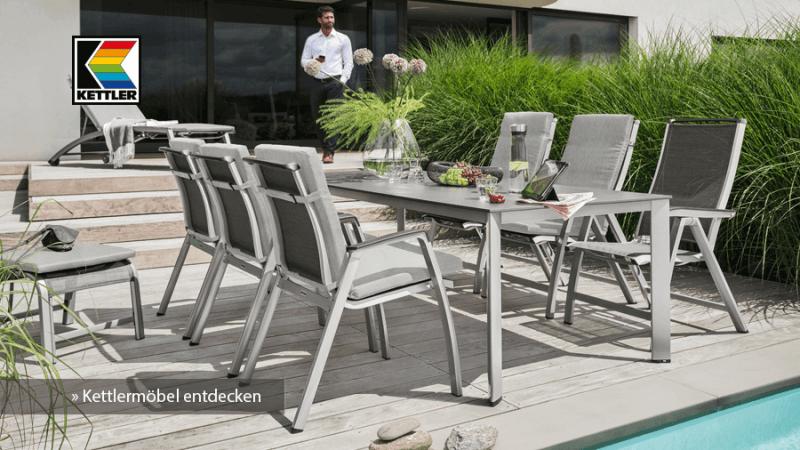 Entdecken Sie jetzt unser großes Angebot an Gartenmöbeln von Kettler