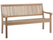 Teakholz Gartenbank Coral 3-Sitzer