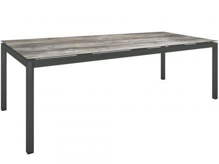 Stern Gartentisch 250x100cm Aluminium anthrazit/Silverstar 2.0 Tundra grau