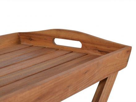 Vorschau: Lünse Holz Tablett Bali mit Ständer