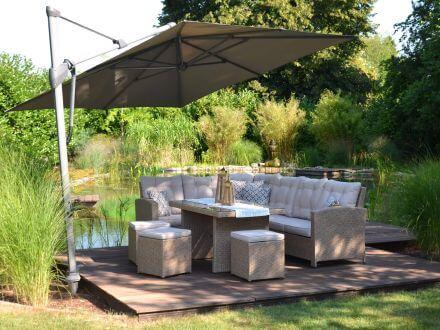 Vorschau:  Eck-Dining-Lounge Kansas Ambientebild im Garten