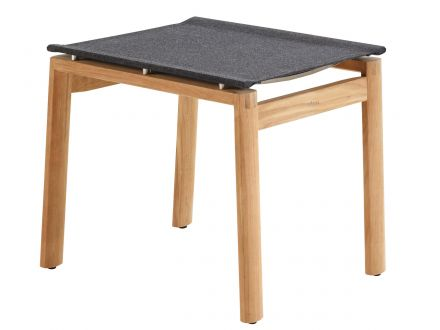solpuri Safari Hocker Teak softex coal