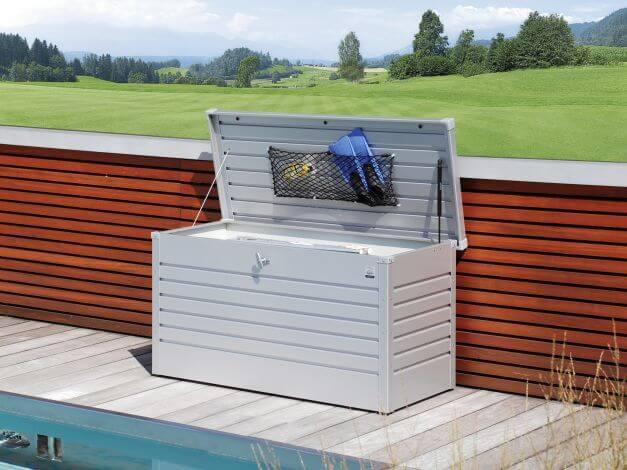 Biohort FreizeitBox 130 mit geöffnetem Deckel