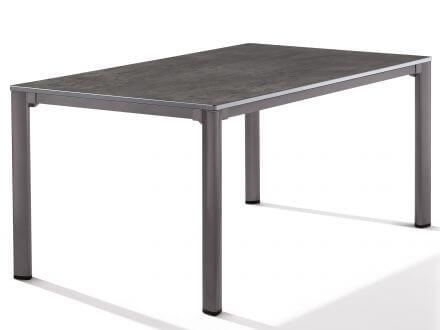 Sieger Gartentisch Loft 165x95cm eisengrau/Beton dunkel