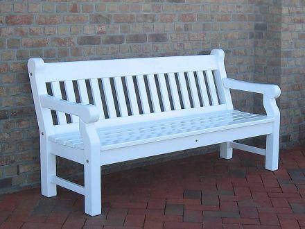 Vorschau: Peters + Peters 1x Parkbank Windsor 3-Sitzer weiß lackiert