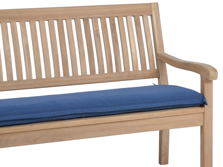 Polsterauflage Malibu für Gartenbank, Farbe: denim-blue ...