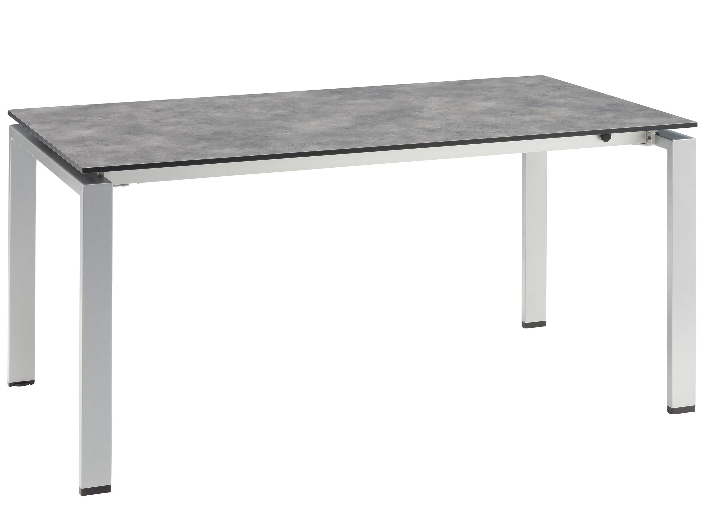 kettler hpl dining ausziehtisch 160 210x95cm silber. Black Bedroom Furniture Sets. Home Design Ideas