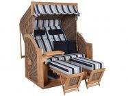 Teak Strandkorb PURE Comfort XL griseum Dessin 435