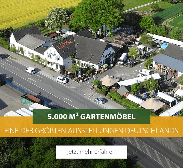Gartenmöbel auf über 5.000m² - eine der größten Ausstellungen in Deutschland - jetzt mehr erfahren