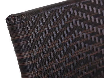 Vorschau: Siena Garden Aluminium Geflecht Stapelsessel Aros bronze|maron