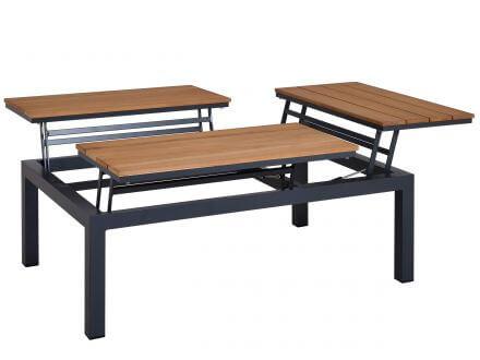 Tierra Outdoor Aluminium Loungemöbel Valencia Tisch Flip-Up-Teak