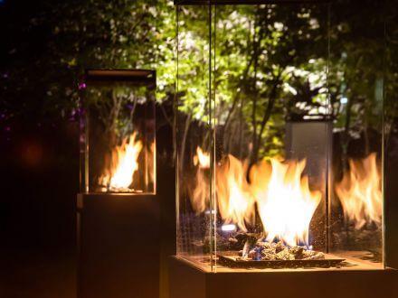 Vorschau: Planika Lighthouse Black Garten Gaskamin Feuerstelle mit Rollen