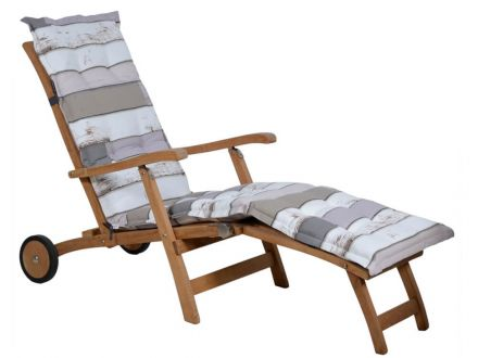 Madison Auflage Deckchair beach house grey