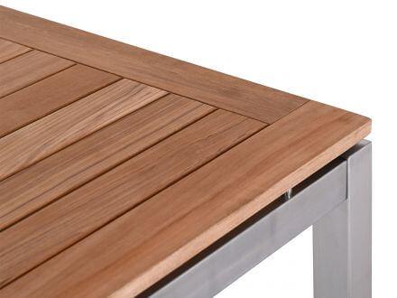 Vorschau: Detailbild Teak Tischplatte