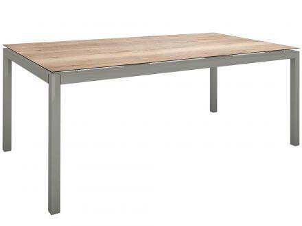 Vorschau: Stern Gartentisch 200x100cm Aluminium graphit/Silverstar Touch Tundra natur